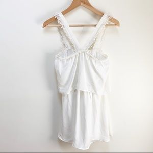TOBI white crochet mini dress XS